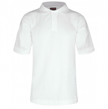 Polo Shirt in White Plain